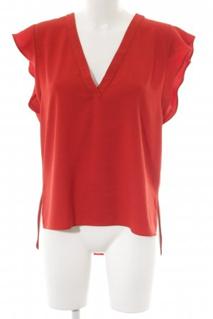 Zara Woman Kurzarm-Bluse rot klassischer Stil