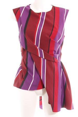 Zara Woman Kurzarm-Bluse Streifenmuster Elegant