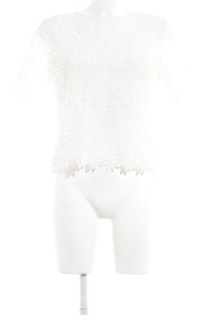 Zara Woman Kurzarm-Bluse weiß Street-Fashion-Look