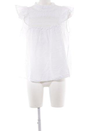 Zara Woman Camicetta a maniche corte bianco sporco stile casual