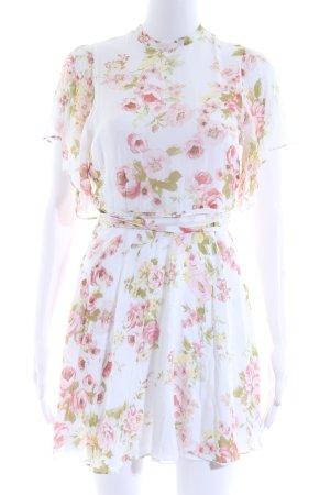 Zara Woman Kurzarmkleid Blumenmuster Romantik-Look