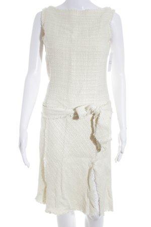 Zara Woman Kurzarmkleid creme