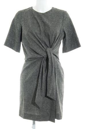 Zara Woman Kurzarmkleid dunkelgrau-wollweiß meliert extravaganter Stil