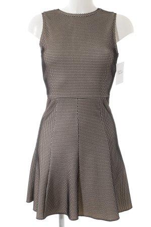 Zara Woman Kurzarmkleid schwarz-creme Punktemuster Casual-Look