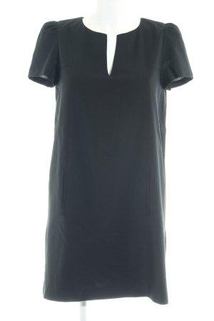 Zara Woman Kurzarmkleid schwarz schlichter Stil