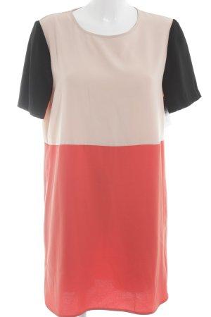 Zara Woman Kurzarmkleid Streifenmuster Elegant