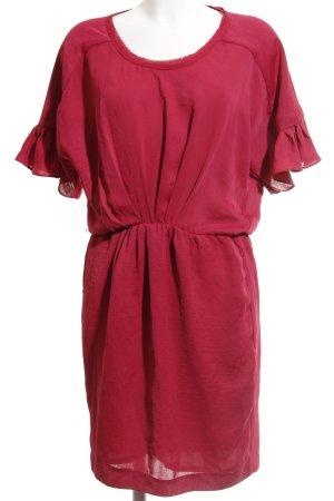 Zara Woman Kurzarmkleid violett-magenta Hippie-Look
