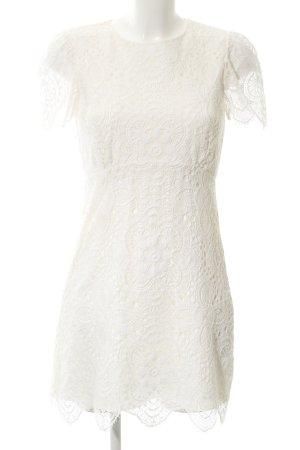 Zara Woman Kurzarmkleid wollweiß Elegant