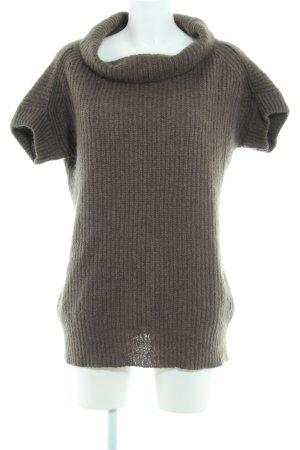 Zara Woman Maglione a maniche corte cachi