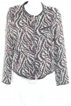 Zara Woman Kurzjacke abstraktes Muster Glitzer-Optik