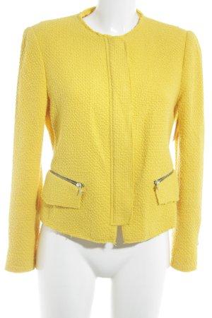 Zara Woman Kurzjacke dunkelgelb Casual-Look