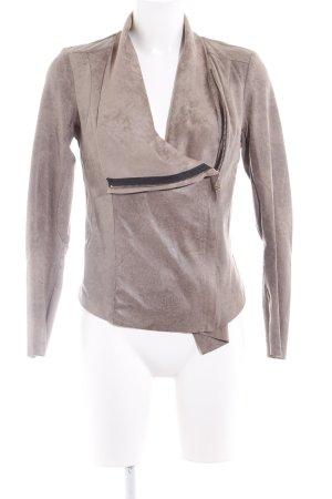 Zara Woman Kurzjacke graubraun Casual-Look