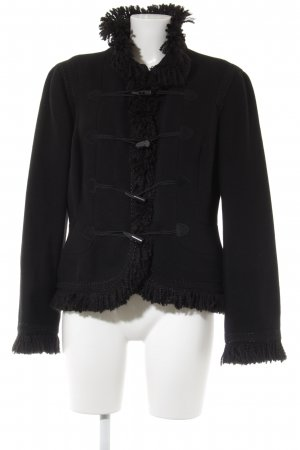 Zara Woman Kurzjacke schwarz extravaganter Stil