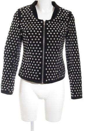 Zara Woman Kurzjacke schwarz Punktemuster Retro-Look