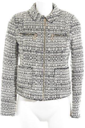 Zara Woman Kurzjacke schwarz-weiß Casual-Look