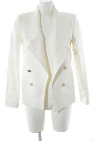 Zara Woman Kurzjacke wollweiß Marine-Look