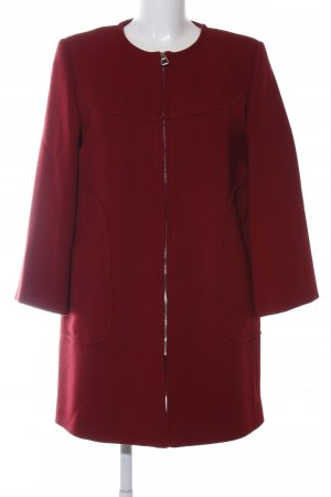 Zara Woman Kurzmantel rot Casual-Look