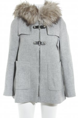 Zara Woman Kurzmantel hellgrau Street-Fashion-Look