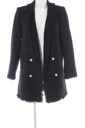 Zara Woman Kurzmantel schwarz Elegant