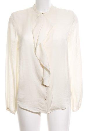 Zara Woman Langarm-Bluse wollweiß Business-Look