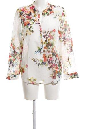 Zara Woman Langarm-Bluse Blumenmuster Street-Fashion-Look