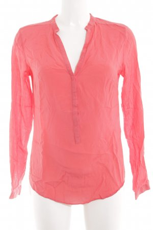 Zara Woman Langarm-Bluse pink Business-Look