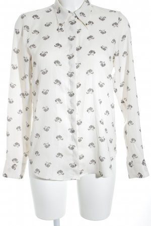 Zara Woman Langarm-Bluse Animalmuster Animal-Look