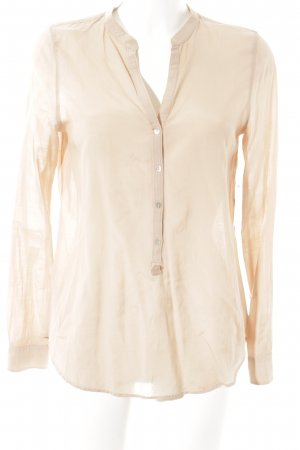 Zara Woman Langarm-Bluse apricot Business-Look