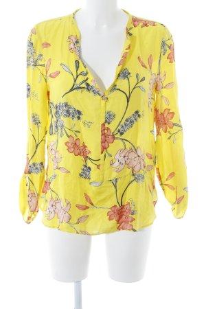 Zara Woman Blouse à manches longues motif de fleur style décontracté