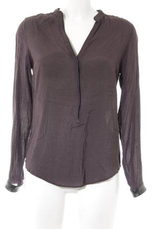Zara Woman Langarm-Bluse brombeerrot Casual-Look