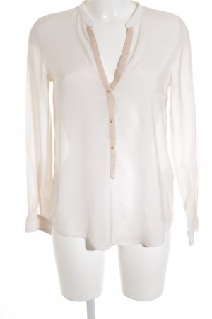 Zara Woman Langarm-Bluse creme-apricot Casual-Look