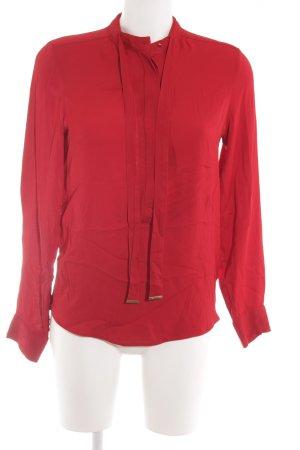 Zara Woman Langarm-Bluse dunkelrot Elegant