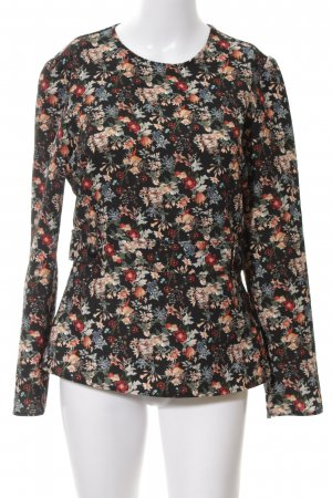 Zara Woman Langarm-Bluse Allover-Druck Casual-Look