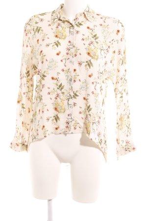 Zara Woman Langarm-Bluse florales Muster Casual-Look