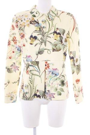 Zara Woman Langarm-Bluse florales Muster Elegant