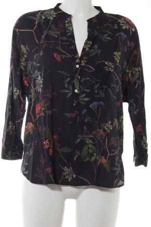 Zara Woman Langarm-Bluse florales Muster Romantik-Look