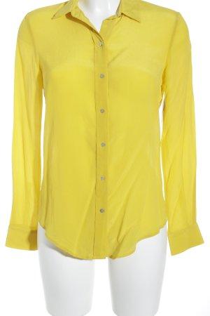 Zara Woman Langarm-Bluse gelb Boho-Look