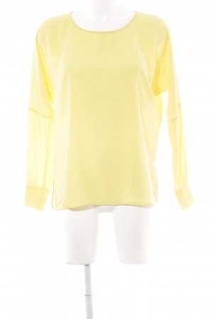 Zara Woman Langarm-Bluse gelb Elegant