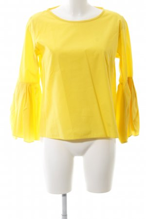 Zara Woman Langarm-Bluse gelb schlichter Stil