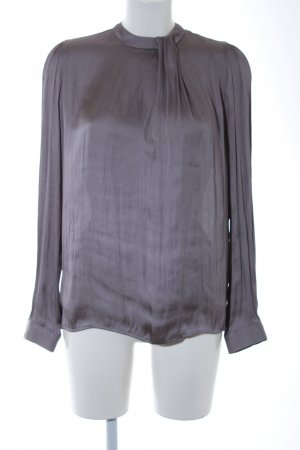 Zara Woman Langarm-Bluse grau Elegant