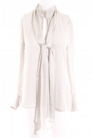 Zara Woman Langarm-Bluse hellgrau Business-Look