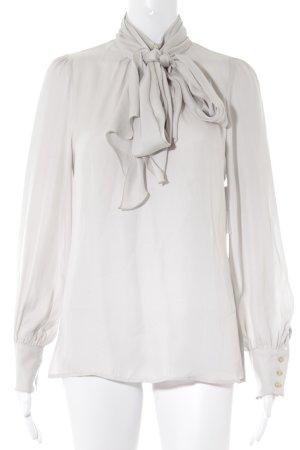 Zara Woman Langarm-Bluse hellgrau Casual-Look