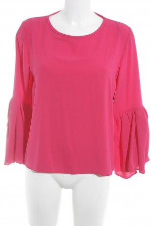 Zara Woman Langarm-Bluse magenta Street-Fashion-Look