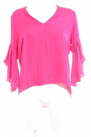 Zara Woman Langarm-Bluse neonrot Elegant