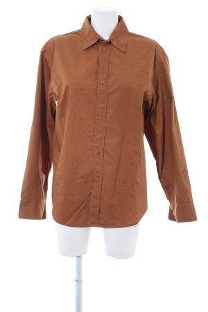 Zara Woman Langarm-Bluse sandbraun Casual-Look