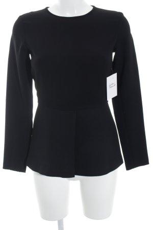 Zara Woman Blouse à manches longues noir élégant