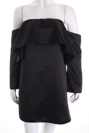 Zara Woman Langarm-Bluse schwarz Glanz-Optik