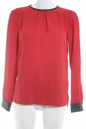 Zara Woman Long Sleeve Blouse black-red elegant