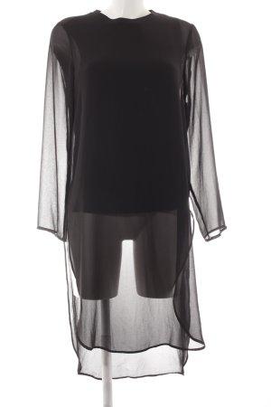 Zara Woman Langarm-Bluse schwarz Street-Fashion-Look