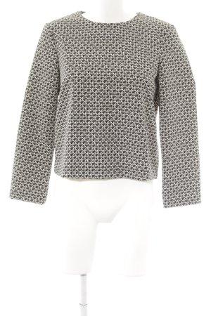 Zara Woman Langarm-Bluse schwarz-weiß abstraktes Muster Casual-Look